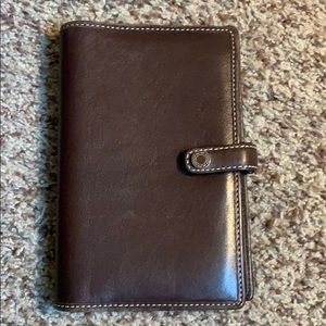 Coach leather planner holder